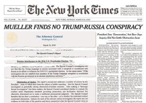 NYT Mueller Front