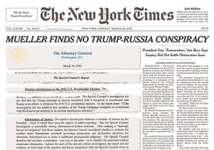NYT Mueller Front