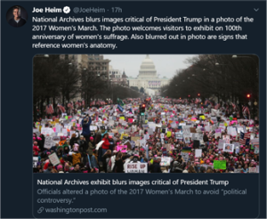 Tweet National Archives Trumped